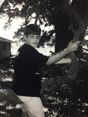 Evan in tree