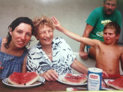 Mama & watermelon